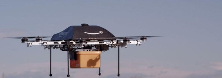 Amazon Drone Carrying A Package