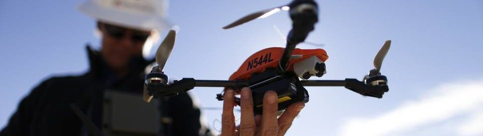 Drone Operator Preparing To Fly A Drone