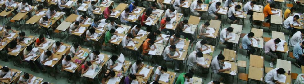 Drone Flying Through Chinese School Exams