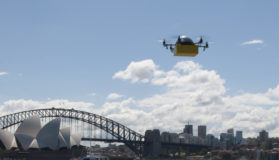 A Drone Delivering A Box In Sydney