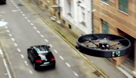 Drone Following A Car In Motion
