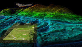 Drone Conducting Mapping Of An Area
