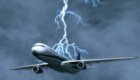 Airplane In A Thunder And Lightning Storm