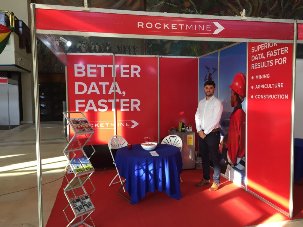 Rocketmine stand at AGDIC Ghana